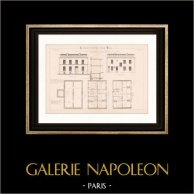 Drawing of Architect - Paris - 7 Cité Pelport - House - Petite Maison d'Habitation
