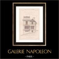 Drawing of Architect - Aulnay-les-Bondy - Aulnay-sous-Bois - House - Maison d'Habitation (Mr Ernest Rahir Architecte)