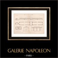 Dessin d'Architecte - Petit-Magnil - Vendée - Maison de Fermier (Mr Léon Ballereau Père Architecte) | Dessin d'architecte de Lon Ballereau imprimé en 1891