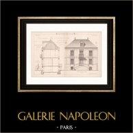 Drawing of Architect - Neuilly-Plaisance - House - Maison d'Habitation de Mr Desbleds (Mr Charpentreau Architecte)
