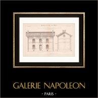 Drawing of Architect - House - Maison d'Habitation (Mr Robin Architecte)