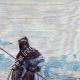 DÉTAILS 03   Vue du Sahara - Désert - Afrique - Touaregs - Nomades pastoraux - Chameaux - Costume Traditionnel