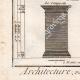 DÉTAILS 05 | Architecture - 1779 - Ordre Architectural - Piédestal - Ordre Dorique - Ordre ionique - Ordre Corinthien - Ordre Toscan - Ordre Composite