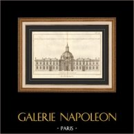 Arquitetura - 1779 - Desenho de Arquitecto - Abadia Real de Penthemont em Paris - Rue de Grenelle