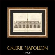 Architettura - 1779 - Disegno di Architetto - Abbazia Reale di Penthemont a Parigi - Rue de Grenelle