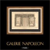 Architecture - 1779 - Dessin d'Architecte - Palais-Royal à Paris