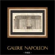 Architecture - 1779 - Dessin d'Architecte - Palais-Royal à Paris - Cheminée