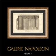 Architecture - 1779 - Dessin d'Architecte - Palais-Royal à Paris - Salle de Jeu