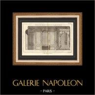 Architecture - 1779 - Dessin d'Architecte - Palais-Royal à Paris - Chambre de Parade
