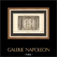 Architecture - 1779 - Dessin d'Architecte - Palais-Royal à Paris - Lit de Parade