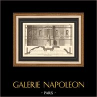 Architecture - 1779 - Architect's Drawing - Paris - Fountain - Fontaine de Grenelle (Edme Bouchardon Architect of the King)