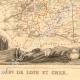 DÉTAILS 04   Carte de France - 1850 - Loir-et-Cher (Ronsard - Henri Ier de Guise)