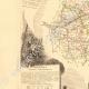 DÉTAILS 02 | Carte de France - 1850 - Indre-et-Loire (Descartes)