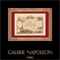 Carte de France - 1850 - Loiret (Coligny) | Gravure sur acier originale dessinée par Perrot - Raimond Bonheur, gravée par Laguillermie - Rainaud. 1850