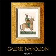 Retrato de Akbar a Cavalo - Imperador Mogol (Índia)