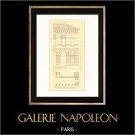 Dessin d'Architecte - Italie - Vérone - Palais - Palazzo della Gran Guardia Vecchia (Domenico Curtoni)