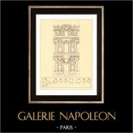 Dessin d'Architecte - France - Paris - Palais du Louvre (Pierre Lescot)