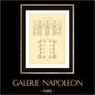 Dessin d'Architecte - France - Paris - Palais du Louvre - Vestibule du Nord - Rue de Rivoli