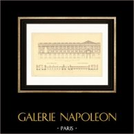 Architect's Drawing - France - Paris - Louvre Palace - Colonnade de Perrault