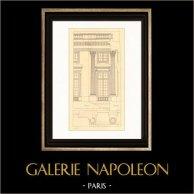 Dessin d'Architecte - France - Château de Versailles - Petit Trianon (Gabriel)