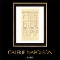 Dibujo de Arquitecto - Francia - Paris - Hôtel des Monnaies (Jacques Denis Antoine)