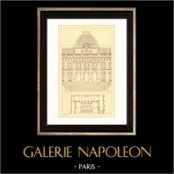 Dessin d'Architecte - France - Paris - Palais de Justice (Desmaisons & Antoine)