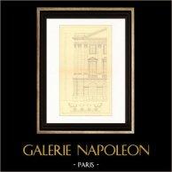 Dessin d'Architecte - France - Château de Versailles - Pavillon de l'Aile Gabriel