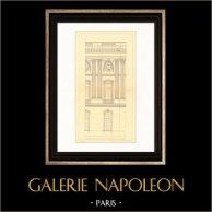 Dessin d'Architecte - France - Paris - Palais du Louvre (Claude Perrault)