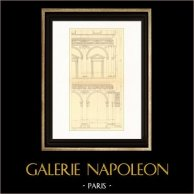 Dessin d'Architecte - Italie - Rome - Palais Farnèse - Palazzo Farnese (Antonio da Sangallo)