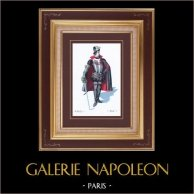 Traje - Fato de Teatro Francês - Pátria (Victorien Sardou) - Opera - Soldado de tribunal