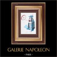 Costume da Teatro Francese - La Cigale Madrilène - Opéra comique (Léon Bernoux) - Carmelina