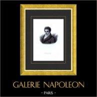 Ritratto di Fulton Robert (1765-1815) - Inventore Americano - Nave a Vapore | Incisione su acciaio originale disegnata da Adèle de Mancy née Le Breton, incisa da Ferdinand Goulu. 1835