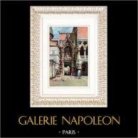 Vue de Venise - Palais des Doges - Palais Ducal - Porta della Carta (Italie)