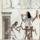 DÉTAILS 04 | Egypte Antique - Hiéroglyphes - Intérieur d'une Maison (Champollion)