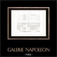Dessin d'Architecte - Palais du Louvre - Paris