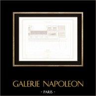 Dessin d'Architecte - Palais du Louvre - Pavillon d'Apollon (Paris)
