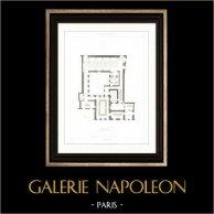 Dibujo de Arquitecto - Arquitectura - Interior de Almacén - Rue Pierre Sarrazin (Paris)