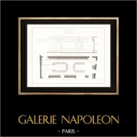 Drawing of Architect - Architecture - Interior of Store - Rue Pierre Sarrazin (Paris)