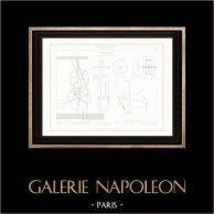 Dibujo de Arquitecto - Arquitectura - Interior de Almacén - Rue Pierre Sarrazin (Paris) - Goods lift
