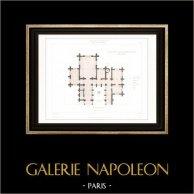 Dessin d'Architecte - Cathédrale Notre Dame de Paris - Sacristie (Paris) - Rez-de-chaussée