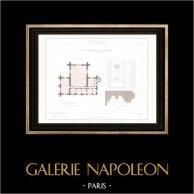 Architect's Drawing - Cathédrale Notre Dame de Paris - Sacristy (Paris) - First floor