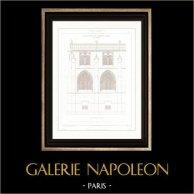 Rysunek Architektoniczno-Budowlany - Katedra Notre Dame de Paryż - Zakrystia (Paris)