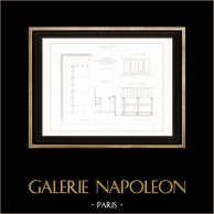 Dessin d'Architecte - Cathédrale Notre Dame de Paris - Sacristie (Paris) - Salle Capitulaire
