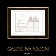 Architect's Drawing - Cathédrale Notre Dame de Paris - Sacristy (Paris) - Furniture