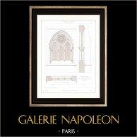 Dessin d'Architecte - Cathédrale Notre Dame de Paris - Sacristie (Paris) - Architecture - Fenêtre