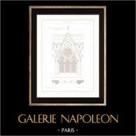 Architect's Drawing - Cathédrale Notre Dame de Paris - Sacristy (Paris) - Architecture - Window