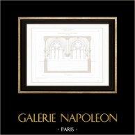 Dessin d'Architecte - Cathédrale Notre Dame de Paris - Sacristie (Paris) - Architecture de la salle A