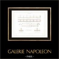 Dessin d'Architecte - Palais de Justice (Paris) - Plafonds - Poutres
