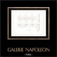 Dessin d'Architecte - Palais de Justice (Paris) - Plafonds - Décoration