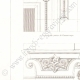 DETAILS 02   Architect's Drawing - City Hall of Vincennes (Val-de-Marne - France) - Decoration - Cornice